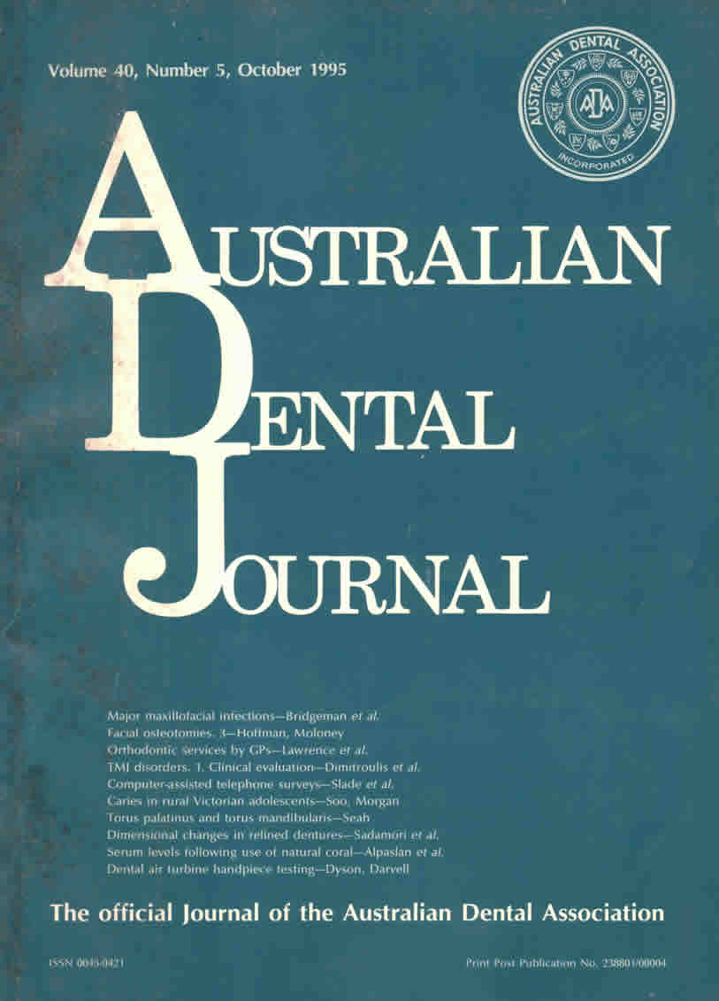 australian dental journal 1995